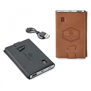 Nathan Genuine Leather 4,000 mAh UL Certified Power Bank