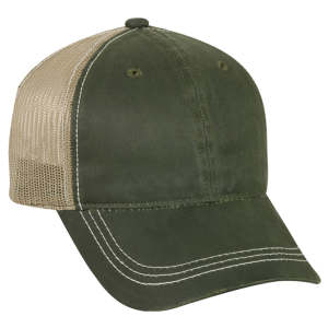 Weathered Cotton Mesh Back Cap