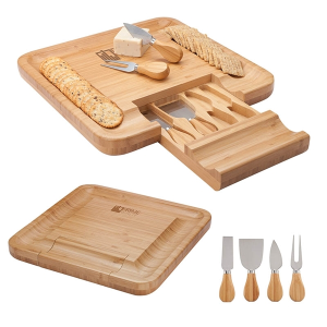 Lorenzi 4 Piece Bamboo Cheese Tray