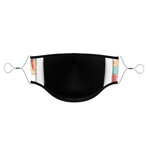 Titan Import 3-Ply Dye-Sublimated Face Mask with Adjustable Elastic Straps
