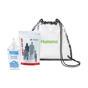American Red Cross First Aid Zip Kit Hand Sanitizer Bundle